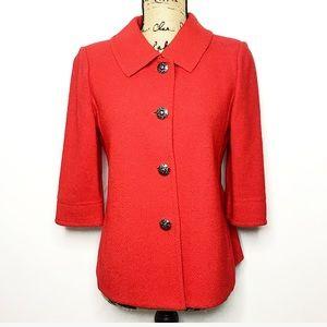 St. John Collection Red Wool Blend Blazer